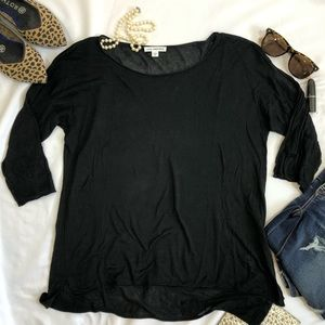 JAMES PERSE 2 top shirt silk black A20